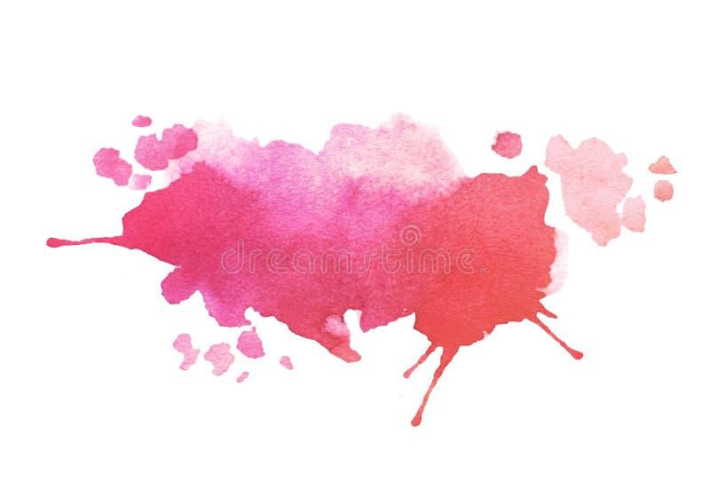 Tache colorée rose abstraite d'aquarelle de vecteur Élément grunge pour la conception de papier illustration de vecteur