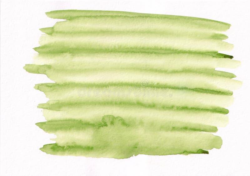Tache courante de gradient vert clair d'aquarelle Bel abstrac illustration de vecteur