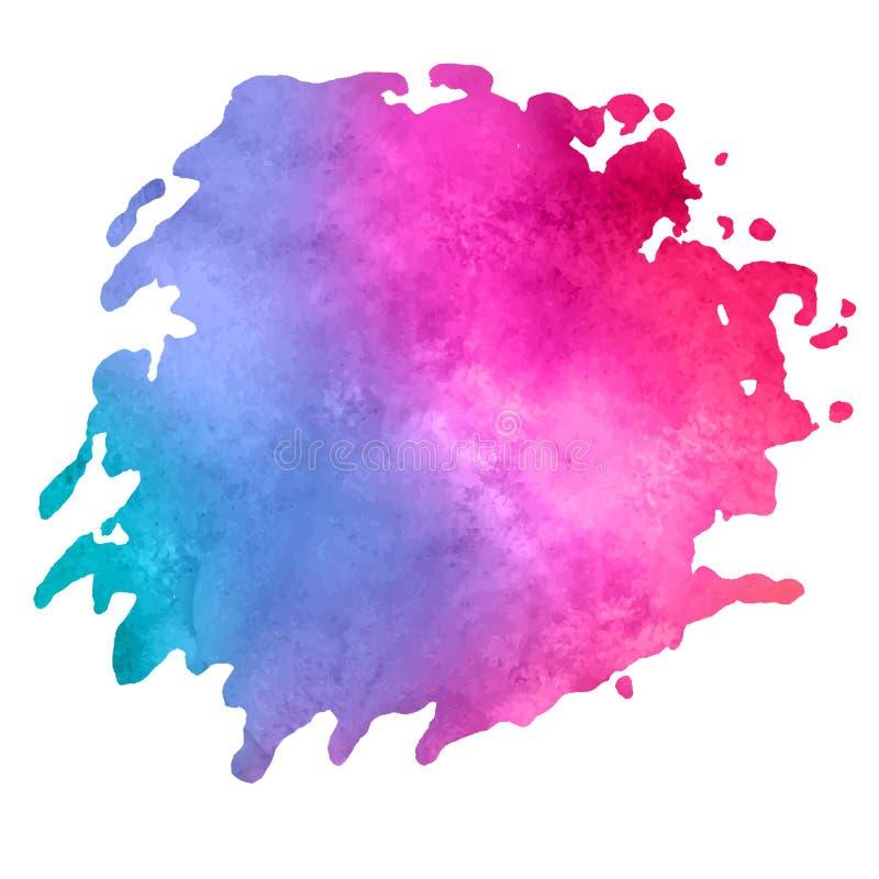 Tache d'aquarelle avec la tache de peinture d'aquarelle illustration de vecteur