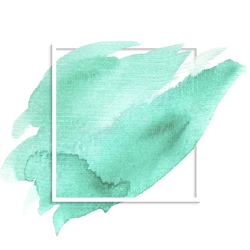 Tache d'aquarelle de turquoise illustration stock