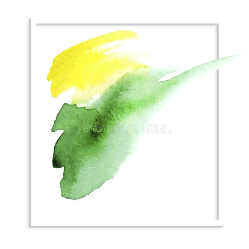 Tache d'aquarelle de vert jaune illustration de vecteur