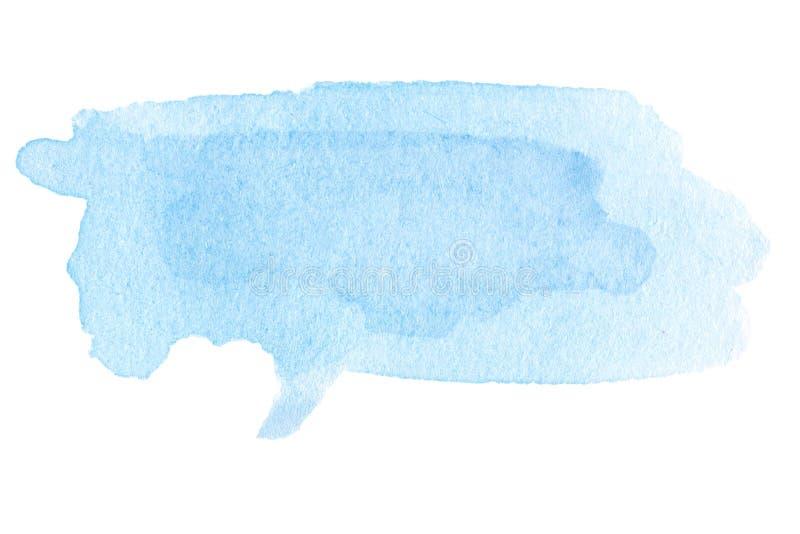 Tache d'aquarelle - fond d'abrégé sur aquarelle de bleu de ciel peinture illustration libre de droits