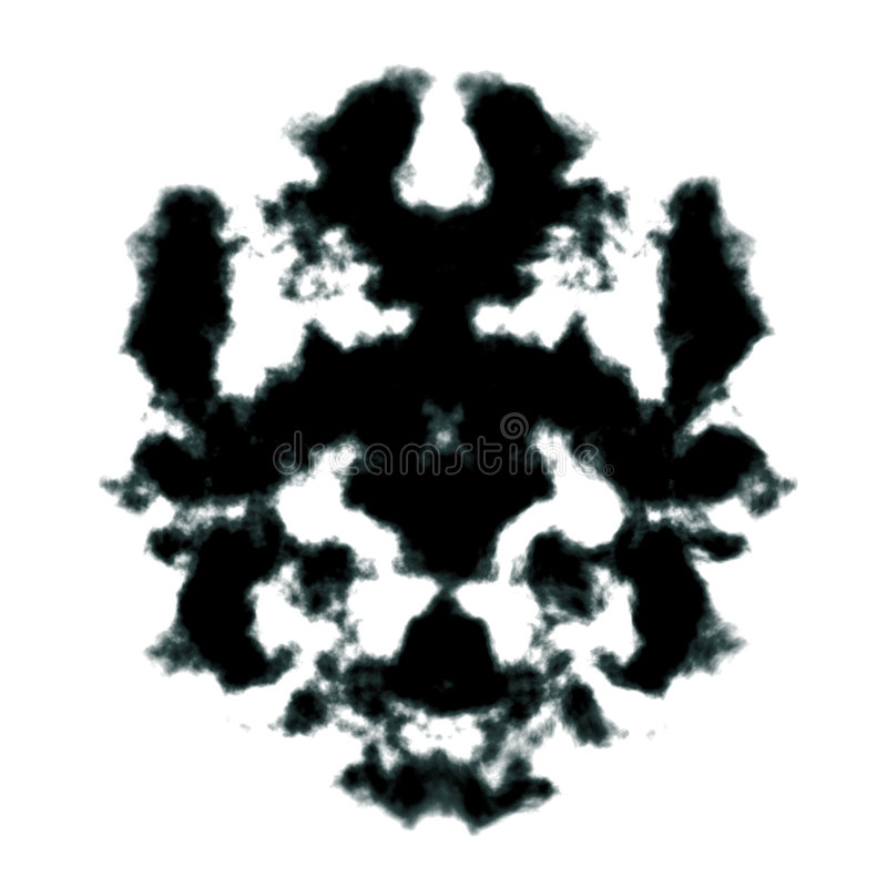 Tache d'encre de Rorschach illustration stock