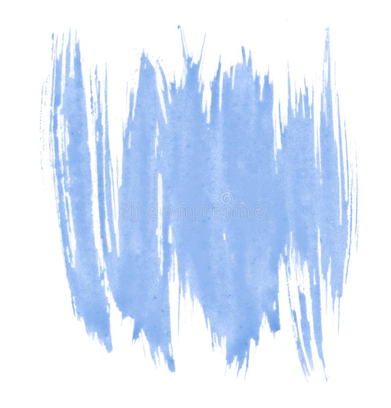 Tache d'isolement tirée par la main de lavage d'aquarelle bleue sur le fond blanc pour le texte, conception Texture abstraite fai illustration stock
