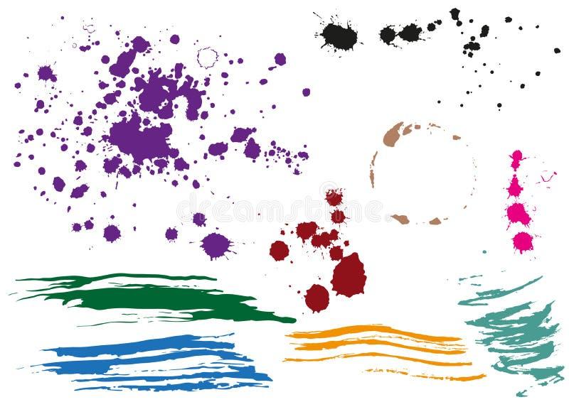 Tache de café Gouttes colorées Taches colorées multi illustration de vecteur