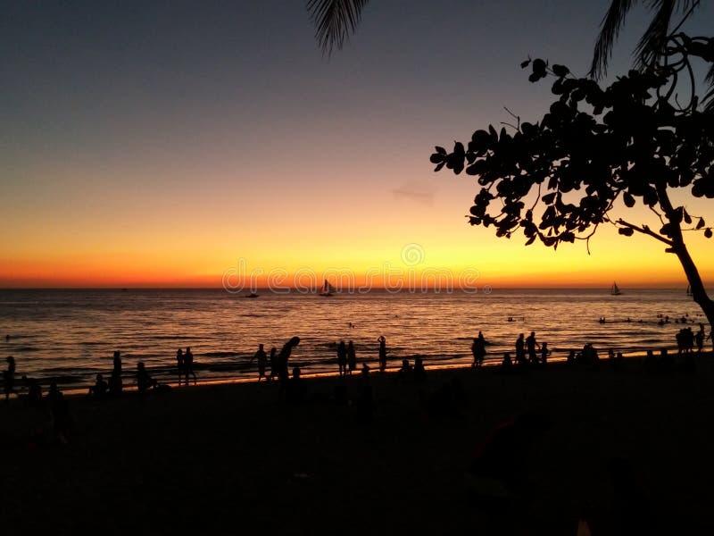 Tache de coucher du soleil photographie stock libre de droits