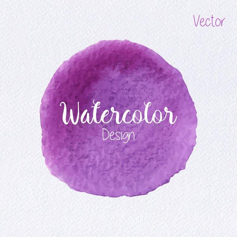 Tache de peinture d'aquarelle de couleur d'arc-en-ciel de vecteur illustration libre de droits