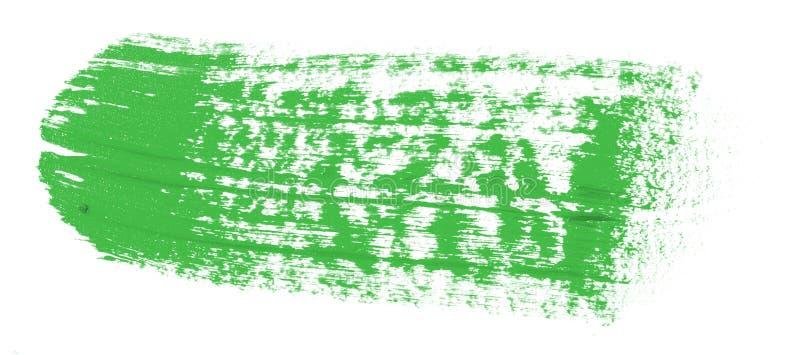 Tache de peinture verte d'huile sur le blanc photos stock