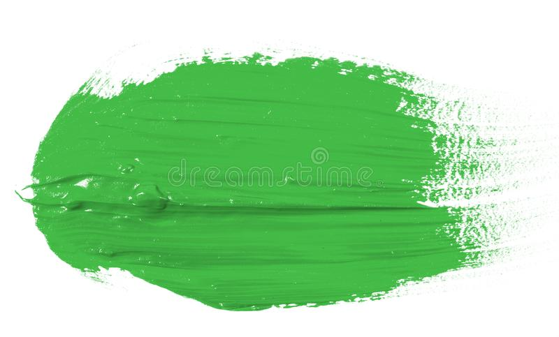 Tache de peinture verte d'huile sur le blanc photo libre de droits