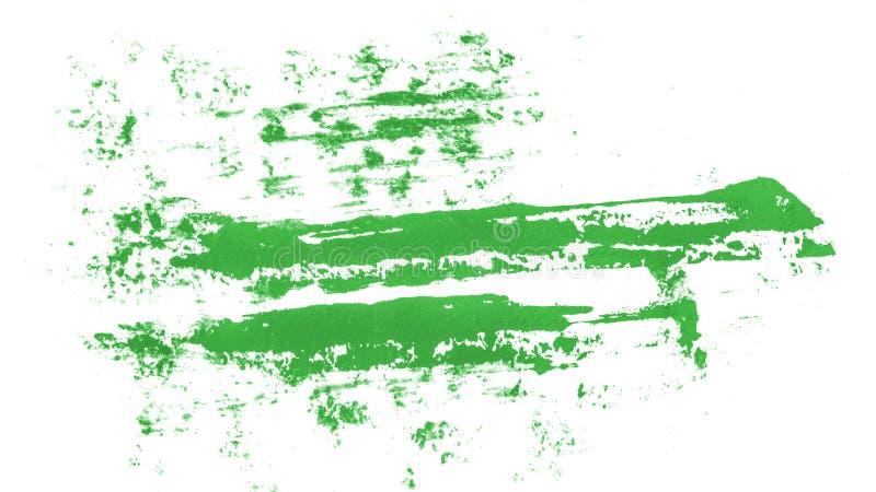 Tache de peinture verte d'huile sur le blanc image stock