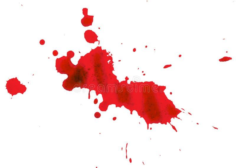 Tache de sang sur le fond blanc photo libre de droits