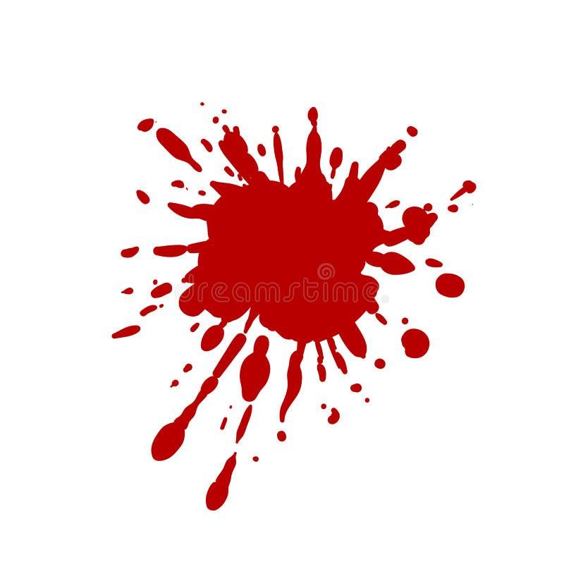 Tache de sang de vecteur, fond rouge d'éclaboussure illustration de vecteur
