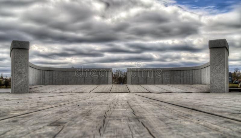 Tache de surveillance de promenade de rivière dans UmeÃ¥, Suède photographie stock libre de droits
