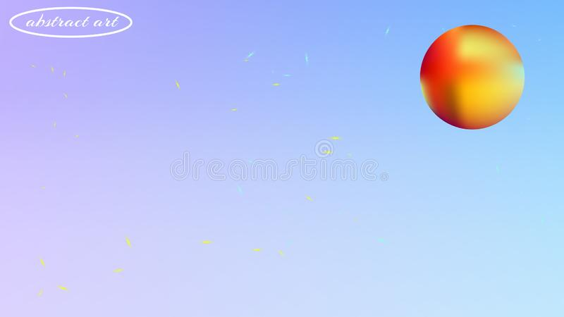 Tache floue abstraite color?e d'image de fond de l'espace illustration stock