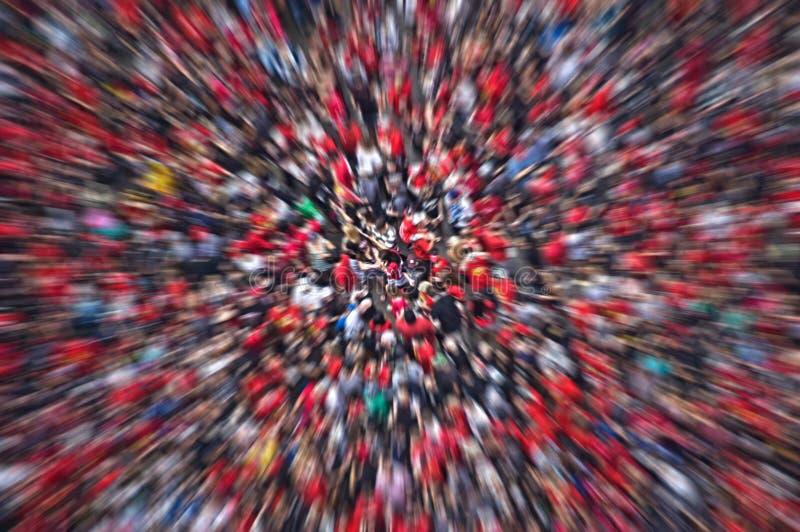 Tache floue abstraite de foule photos stock