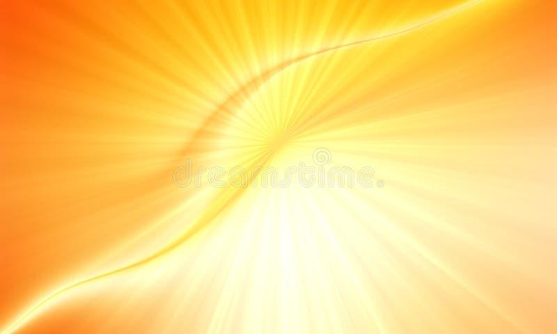 Tache floue abstraite et lumière brillante lumineuse avec des rayons de lumière illustration libre de droits
