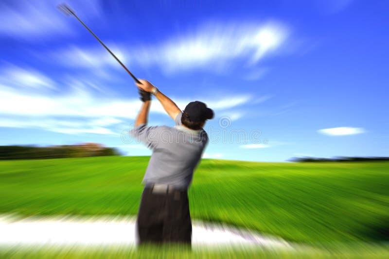 Tache floue d'oscillation de golfeur photographie stock libre de droits