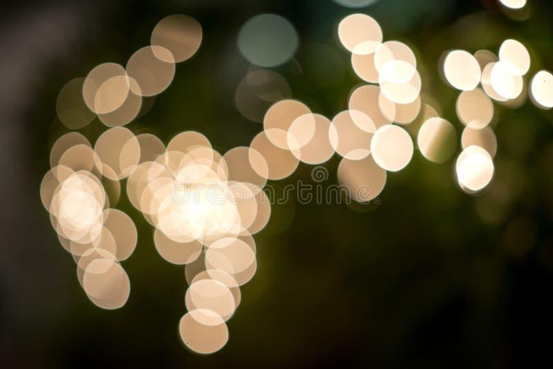 Tache floue de l'éclairage sur tree3 image stock