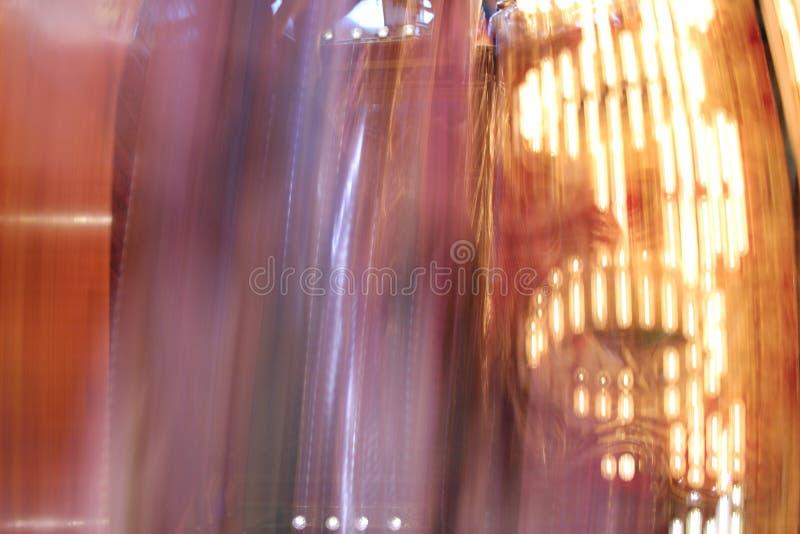 Tache floue de lumière de carrousel image stock