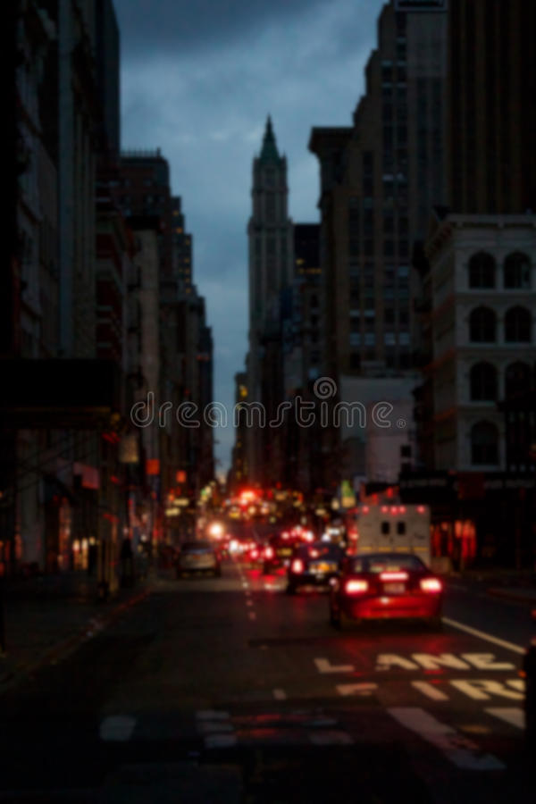 Tache floue noircie- de Manhattan photo stock