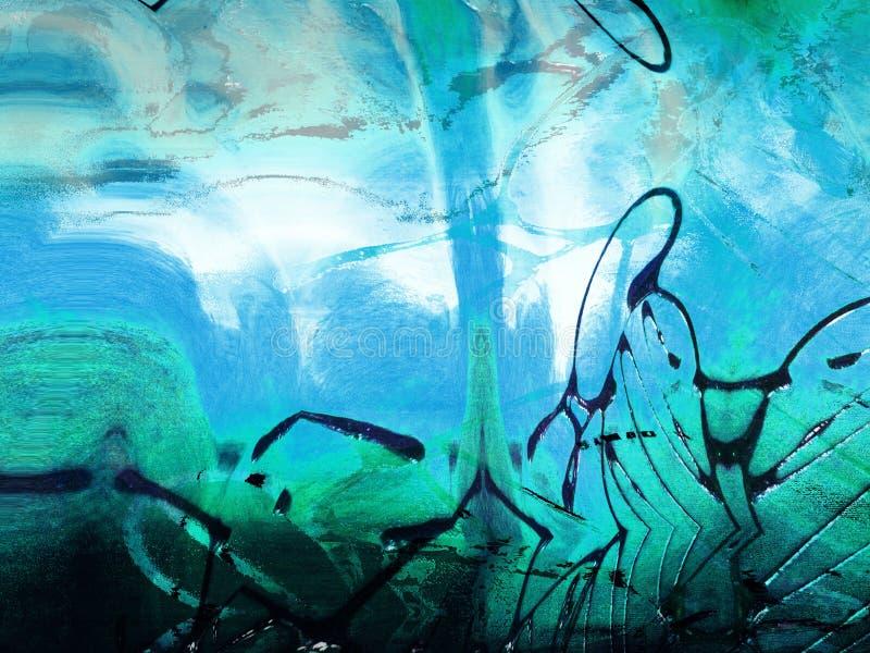 Tache Grunge énervée De Peinture Illustration Stock