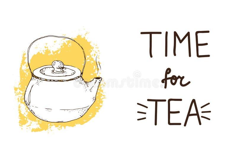 Tache heure du thé illustration de vecteur