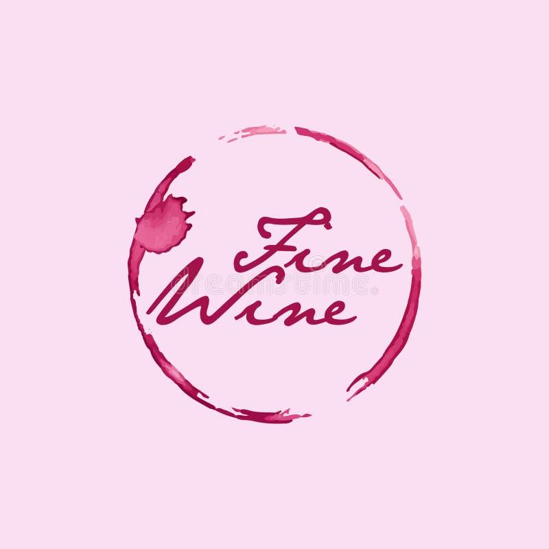 Tache Logo Symbol de vin fin illustration stock
