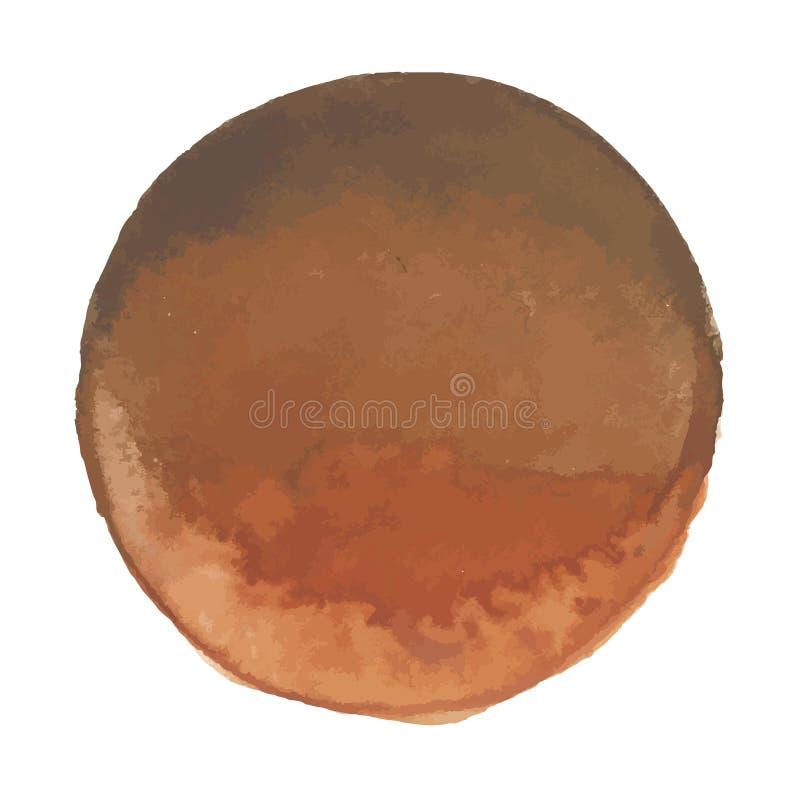 Tache lumineuse de bannière d'aquarelle de vecteur de brun de café illustration stock