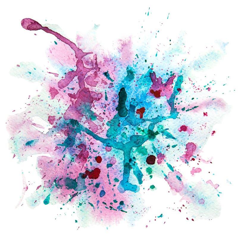 Tache multicolore d'éclaboussure d'aquarelle illustration de vecteur