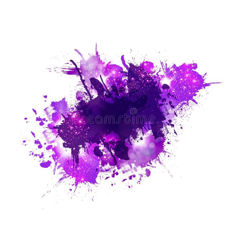 Tache multicolore d'éclaboussure d'aquarelle illustration stock