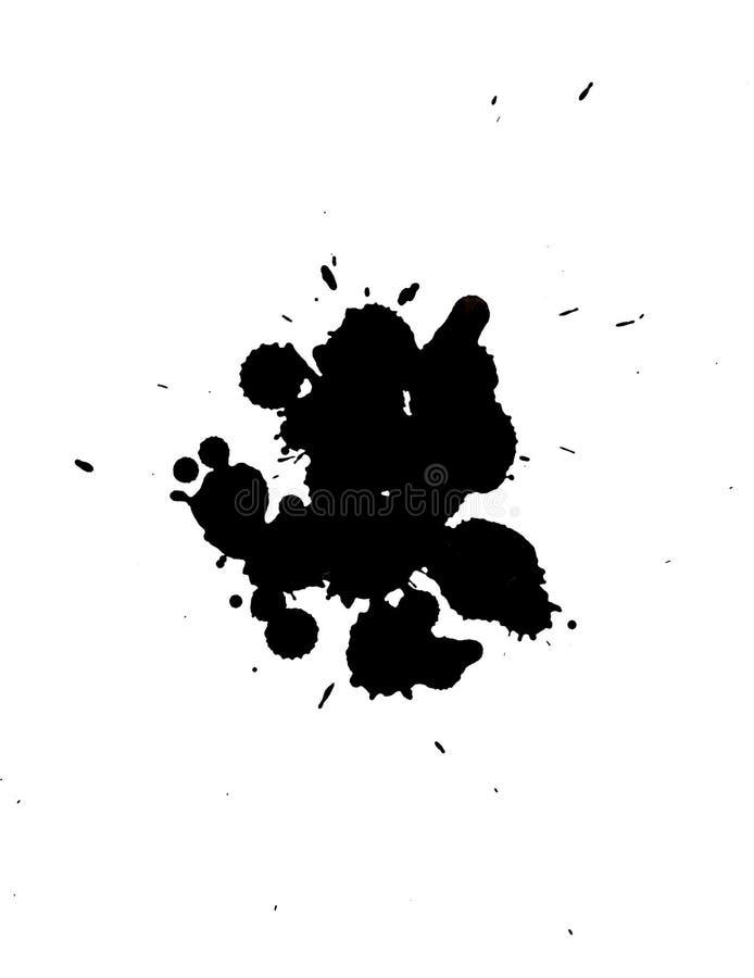 Tache noire d'isolement sur un fond blanc images libres de droits