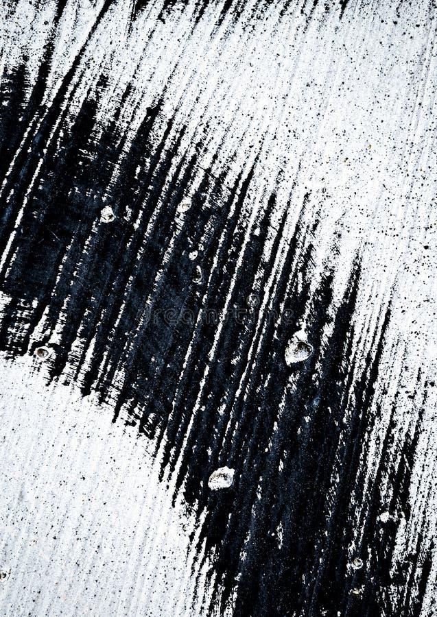 Tache Noire Sur Le Mur Blanc Photo stock - Image du matériau ...