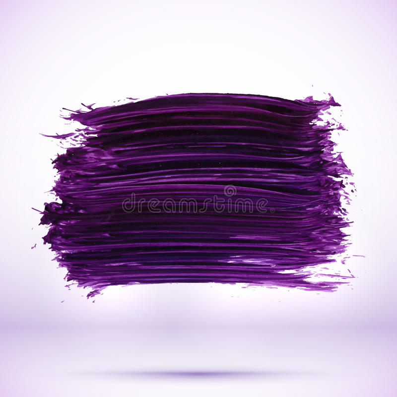 Tache pourpre de texture de peinture avec l'ombre illustration stock