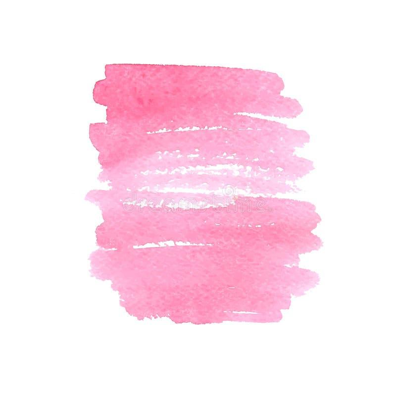 Tache rose d'aquarelle Illustration de vecteur illustration de vecteur