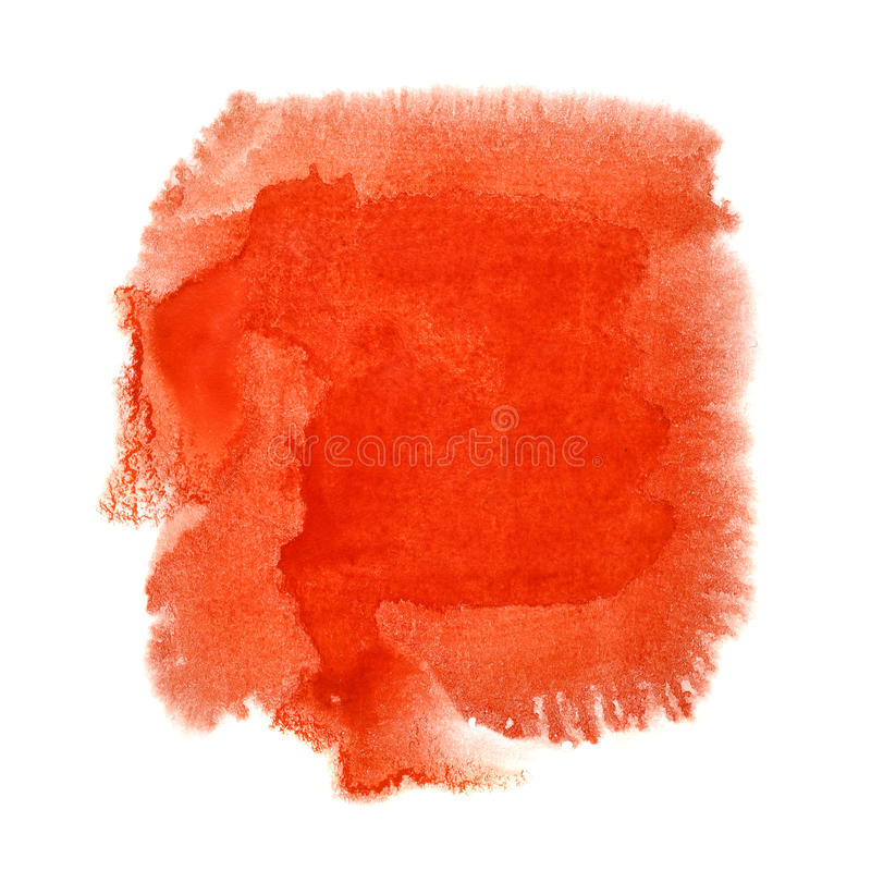 Tache rouge d'aquarelle illustration libre de droits