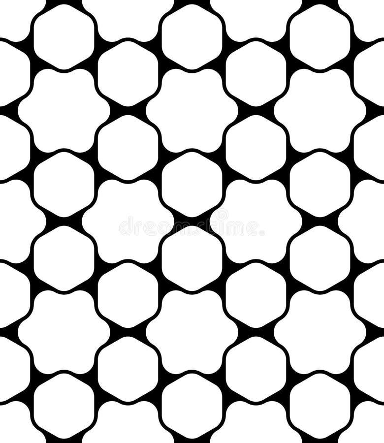 Tache sans couture moderne de modèle de la géométrie de vecteur, résumé noir et blanc illustration libre de droits