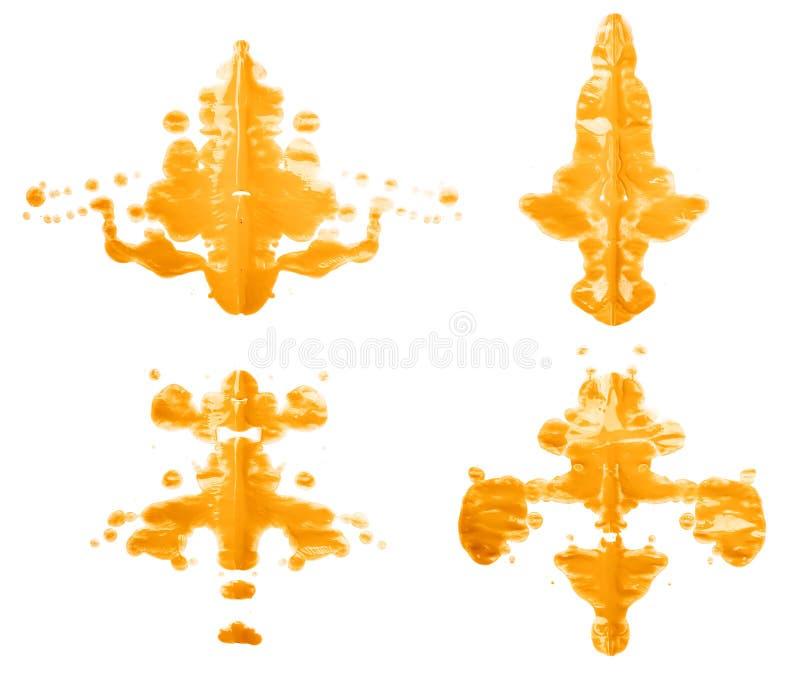 Tache symétrique de peinture image libre de droits