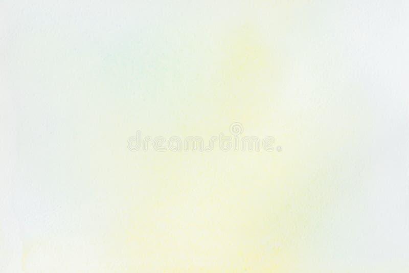 Tache très doucement tirée par la main d'aquarelle sur le blanc du papier d'eau-couleur Image abstraite pour la disposition, cali images libres de droits