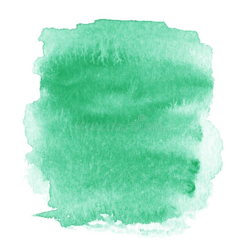 Tache vert clair, Ba texturisé peint à la main abstrait d'aquarelle illustration libre de droits