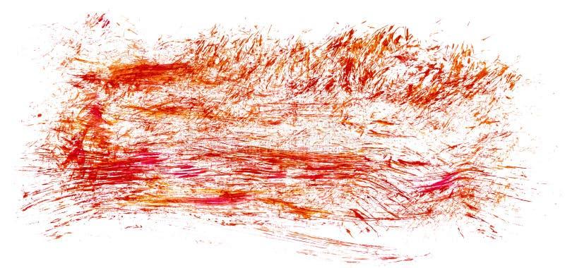 Taches abstraites rouges tirées par la main acryliques d'éclaboussure illustration libre de droits