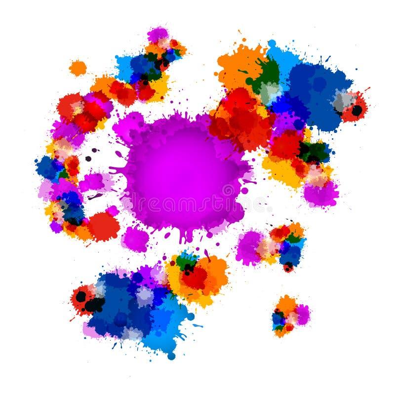 Taches colorées de vecteur illustration de vecteur