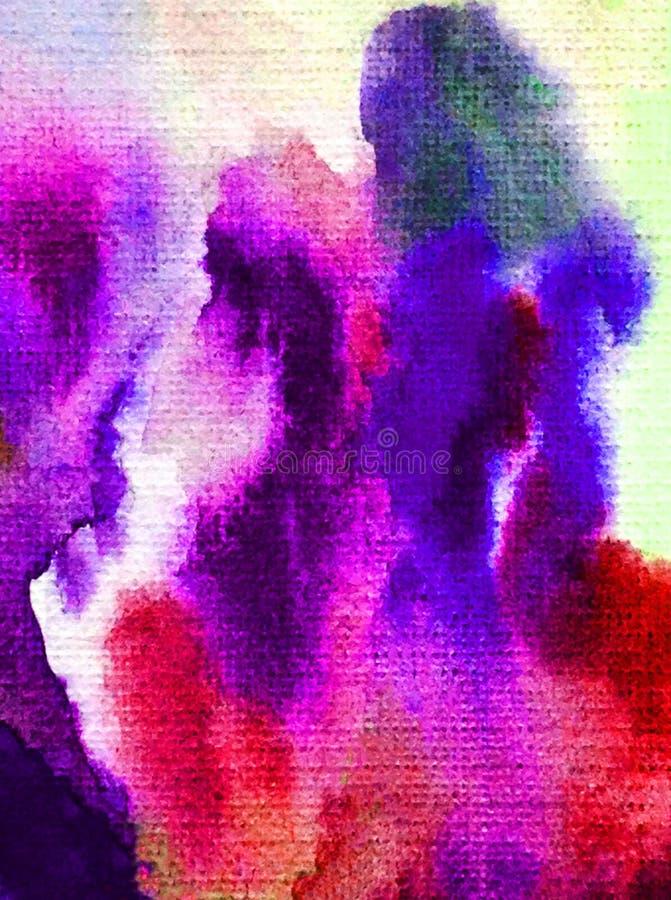 Taches colorées faites main brouillées lumineuses de décoration texturisée de fond d'abrégé sur art d'aquarelle les belles éponge illustration de vecteur