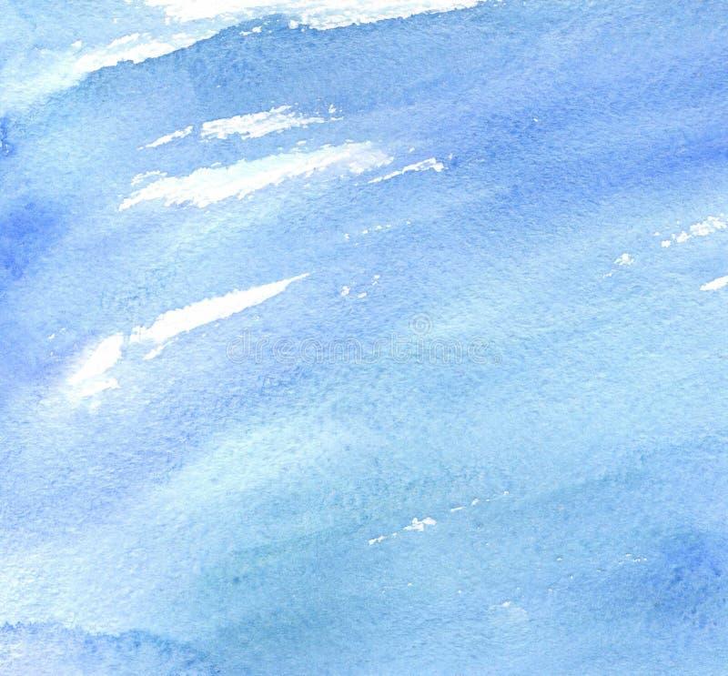 Taches d'aquarelle sur le thème de mer photographie stock