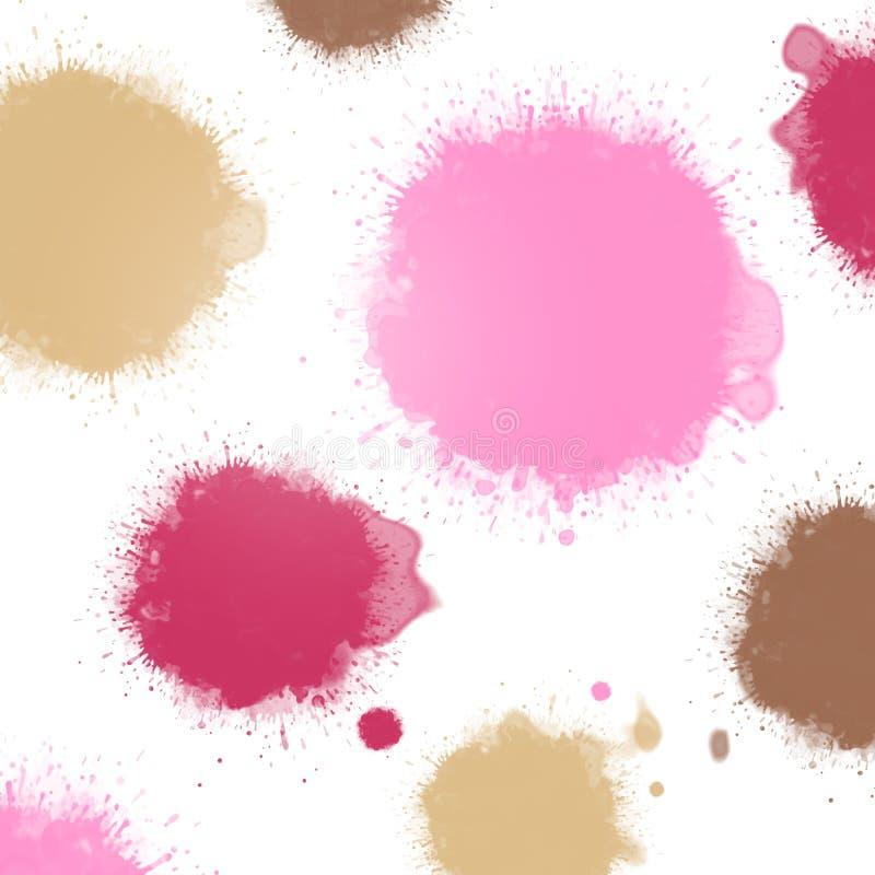Taches d 39 encre de rose en pastel illustration stock - Peinture rose pastel ...