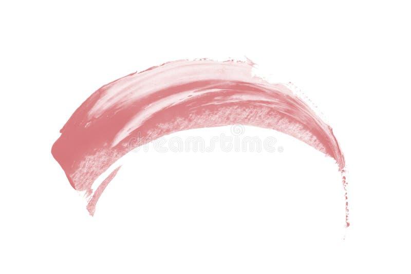 Taches de corail roses de pinceau sur le fond blanc illustration libre de droits