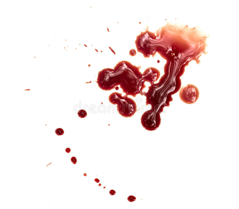 Taches de sang image libre de droits