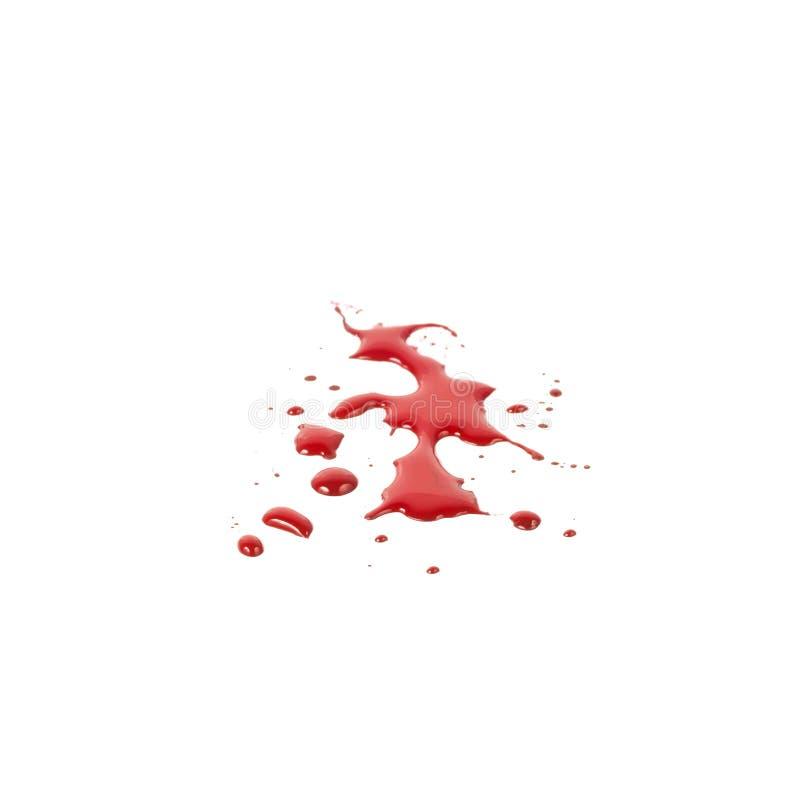Taches de sang (magma) d'isolement sur le fond blanc illustration stock