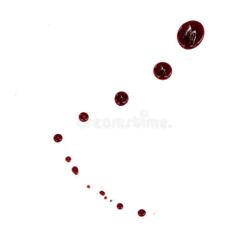 Taches de sang sur le blanc image libre de droits