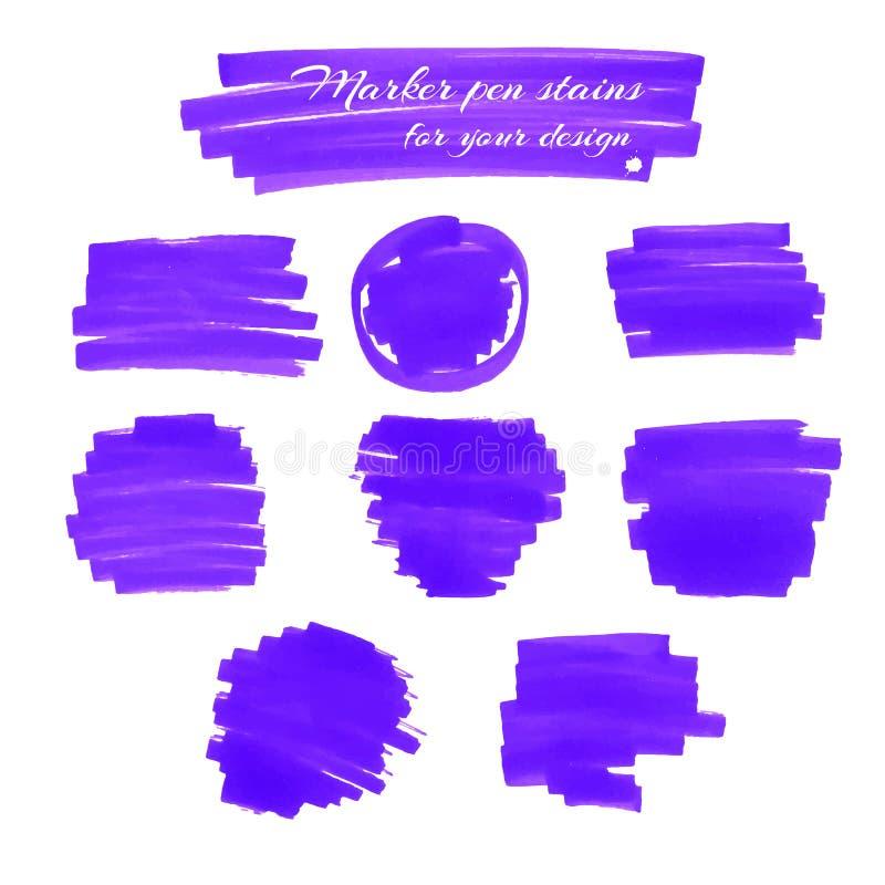 Taches de stylo de marqueur illustration de vecteur