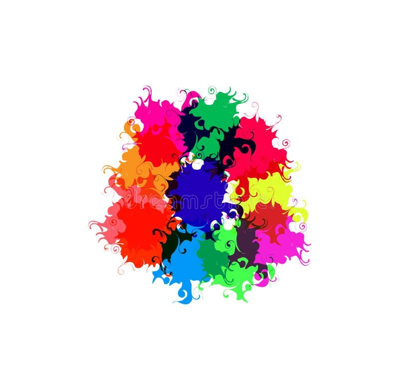Taches dessinées par couleur photo libre de droits